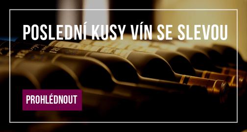 Poslední kusy vín se slevou