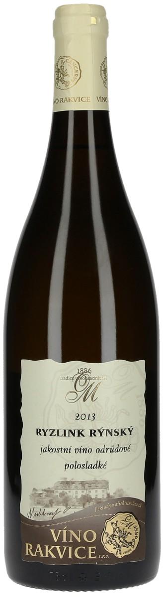 Víno Rakvice Ryzlink rýnský jakostní 2013, 0,75 l