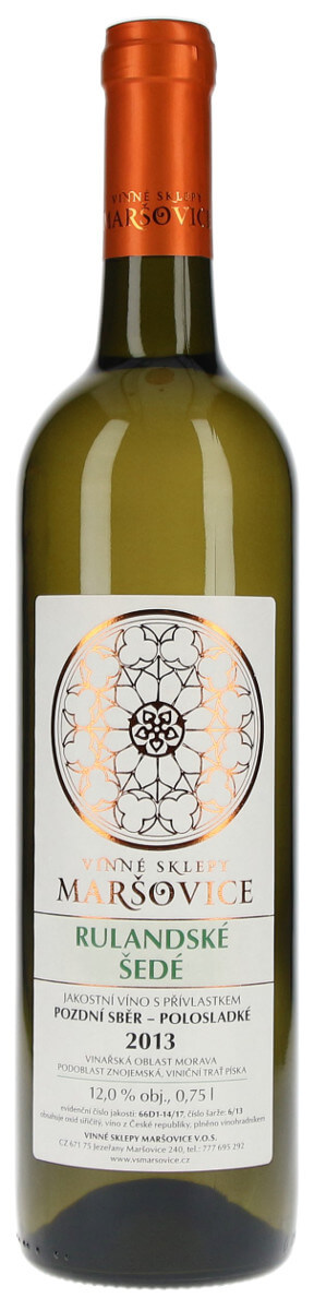 Vinné sklepy Maršovice Rulandské šedé