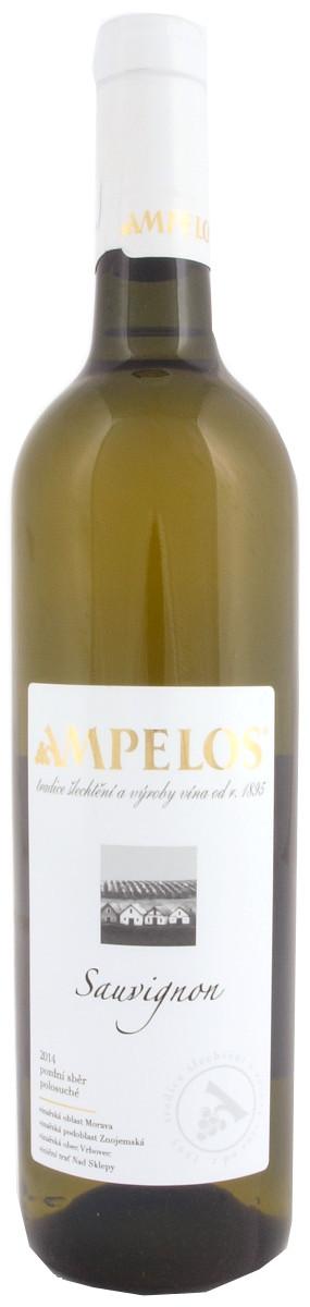Vinařství Ampelos Sauvignon pozdní sběr 2014, 0,75 l