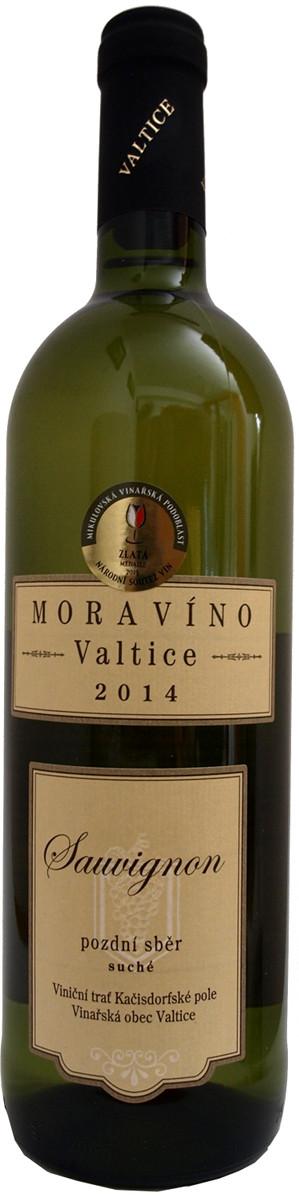 Vinařství Moravíno Sauvignon pozdní sběr 2014, 0,75 l