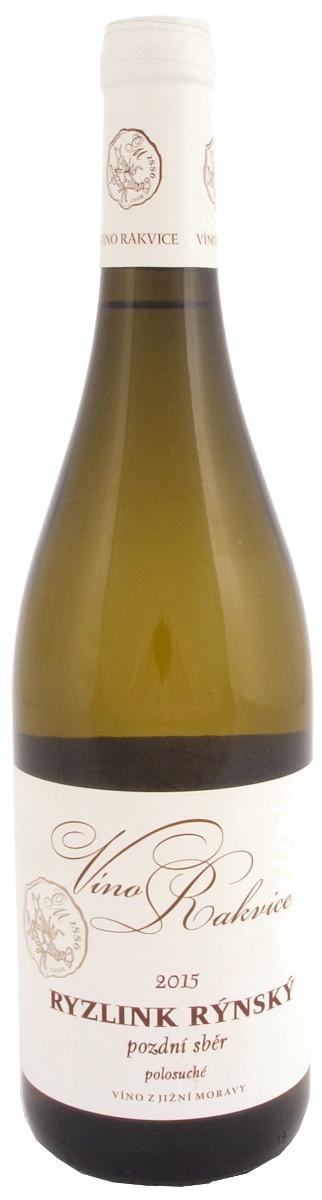 Víno Rakvice Ryzlink rýnský pozdní sběr 2015, 0,75 l