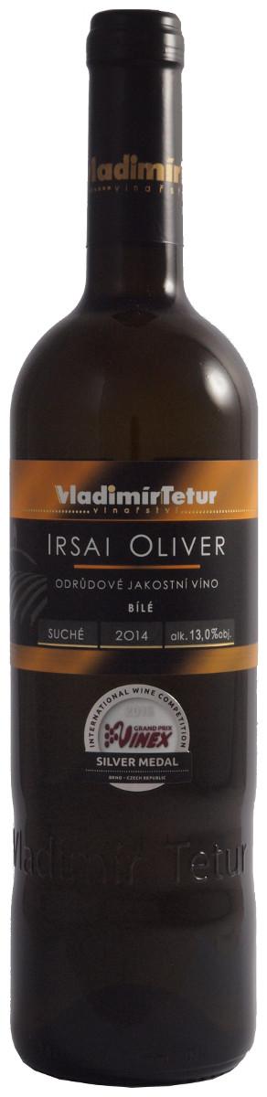 Vladimír Tetur Irsai Oliver jakostní 2014, 0,75 l