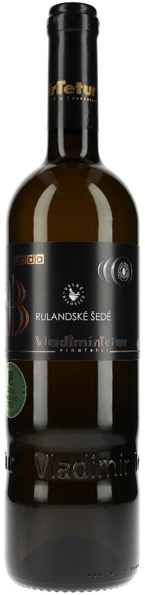 Vinařství Vladimír Tetur Rulandské šedé barrique výběr z bobulí 2008, 0,75 l