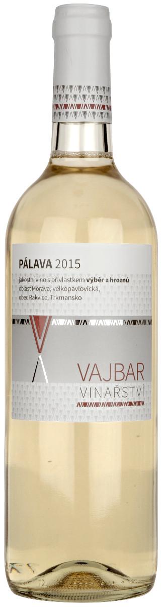 Vinařství Vajbar Pálava výběr z hroznů 2015, 0,75 l