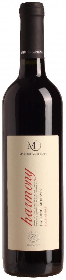Cabernet moravia - Harmony, pozdní sběr, Vinařství Vinselekt