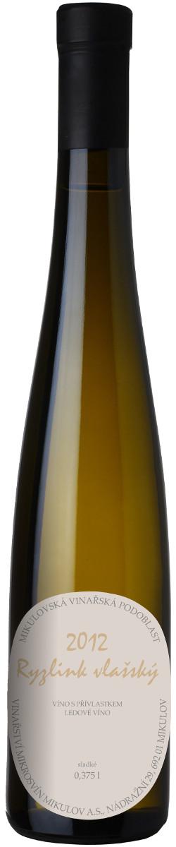 Vinařství Mikrosvín Ryzlink vlašský ledové 2012, 0,375 l