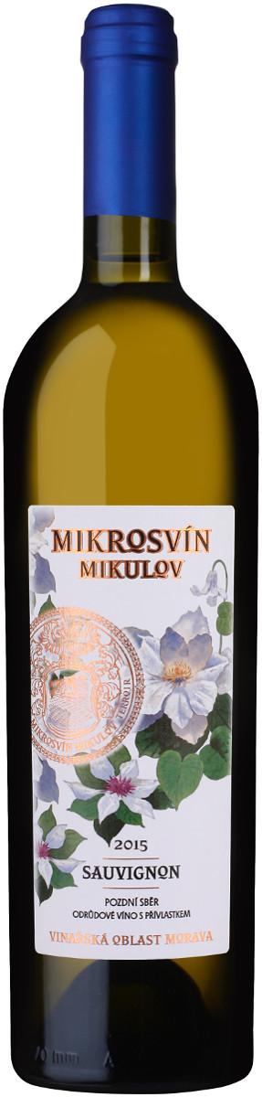 Vinařství Mikrosvín Sauvignon pozdní sběr 2015, 0,75 l