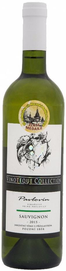 Vinařství Pavlovín Sauvignon pozdní sběr 2015, 0,75 l