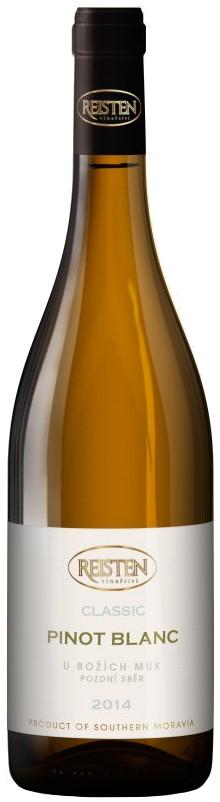 Vinařství Reisten Pinot Blanc (Rulandské bílé) pozdní sběr 2014, 0,75 l