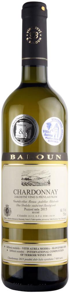 Vinařství Baloun Chardonnay pozdní sběr 2015, 0,75 l