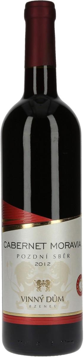 Vinný dům Cabernet Moravia pozdní sběr 2012, 0,75 l