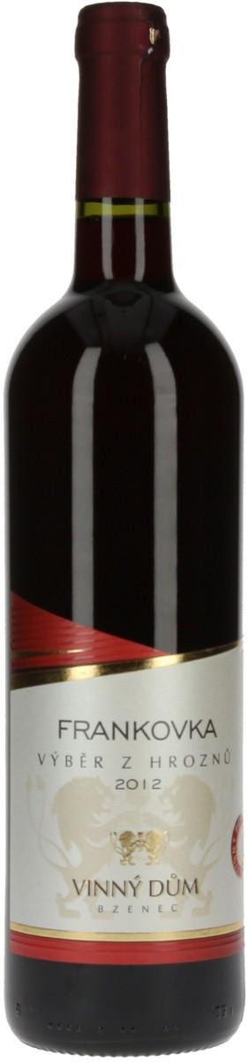Vinný dům Frankovka výběr z hroznů 2012, 0,75 l