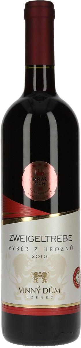 Vinný dům Zweigeltrebe výběr z hroznů 2013, 0,75 l