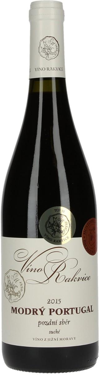 Víno Rakvice Modrý portugal pozdní sběr 2015, 0,75 l