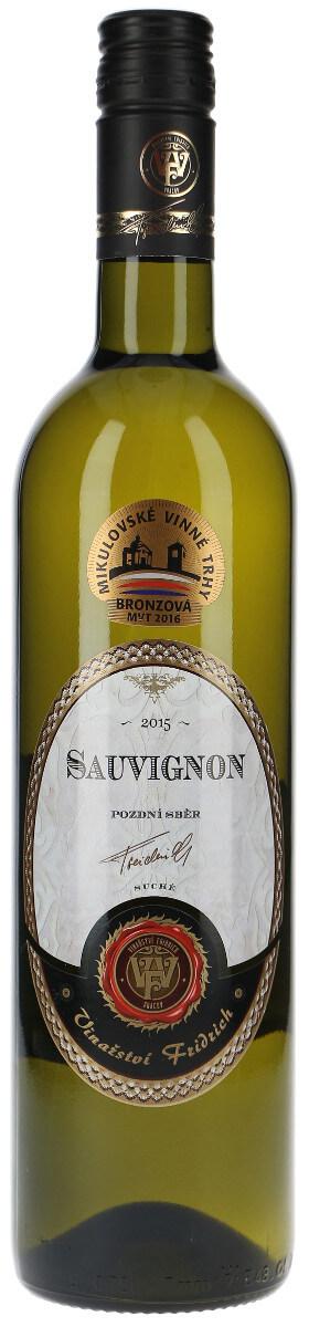 Vinařství Fridrich Sauvignon pozdní sběr 2015, 0,75 l