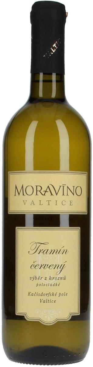 Vinařství Moravíno Tramín červený výběr z hroznů 2015, 0,75 l