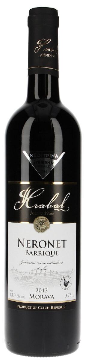 Vinařství Hrabal Neronet barrique jakostní 2013, 0,75 l