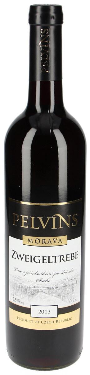 Vinařství Pelvins Zweigeltrebe pozdní sběr 2013, 0,75 l