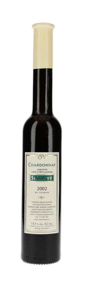 Vinné sklepy Maršovice Chardonnay slámové slámové 2013, 0,2 l