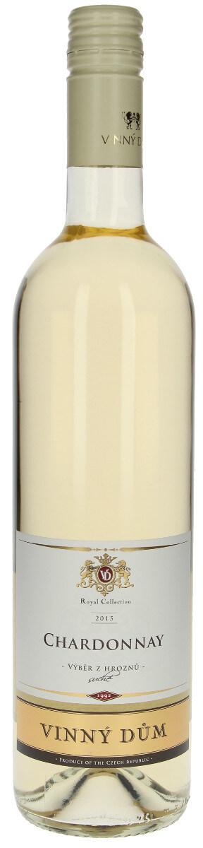 Vinný dům Chardonnay výběr z hroznů 2015, 0,75 l