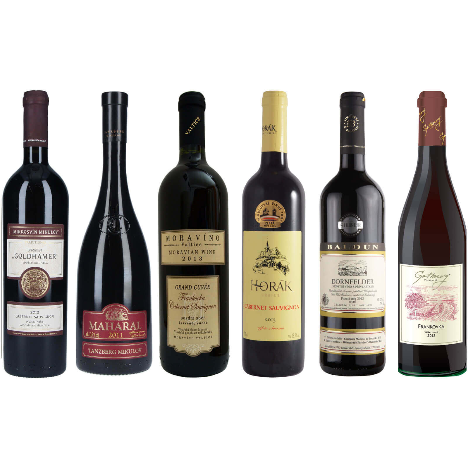 Pečlivě vybraná červená vína