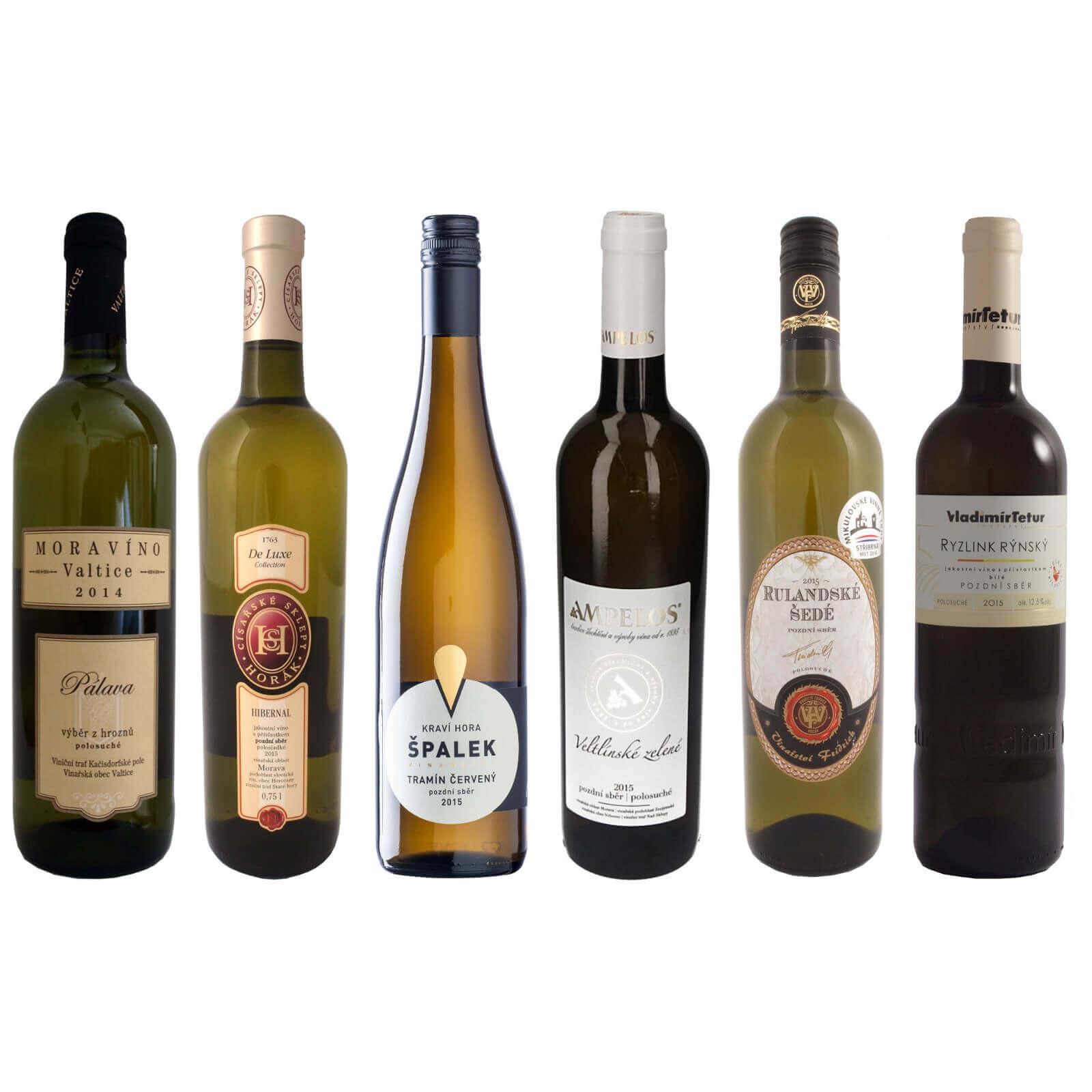 Kolekce sladších bílých vín