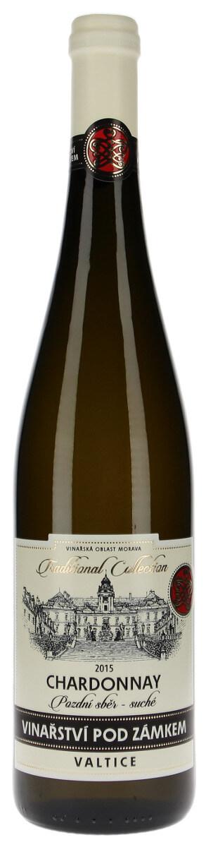 Vinařství pod Zámkem Chardonnay pozdní sběr 2015, 0,75 l