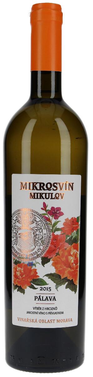 Vinařství Mikrosvín Pálava výběr z hroznů 2015, 0,75 l