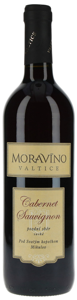 Vinařství Moravíno Cabernet Sauvignon pozdní sběr 2015, 0,75 l