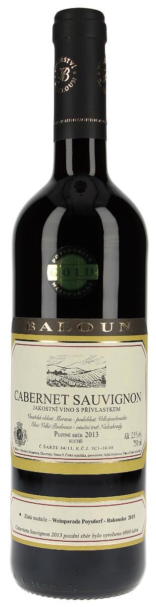 Vinařství Baloun Cabernet Sauvignon pozdní sběr 2013, 0,75 l