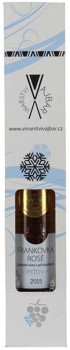 Vinařství Vajbar Frankovka rosé ledové 2015, 0,20 l