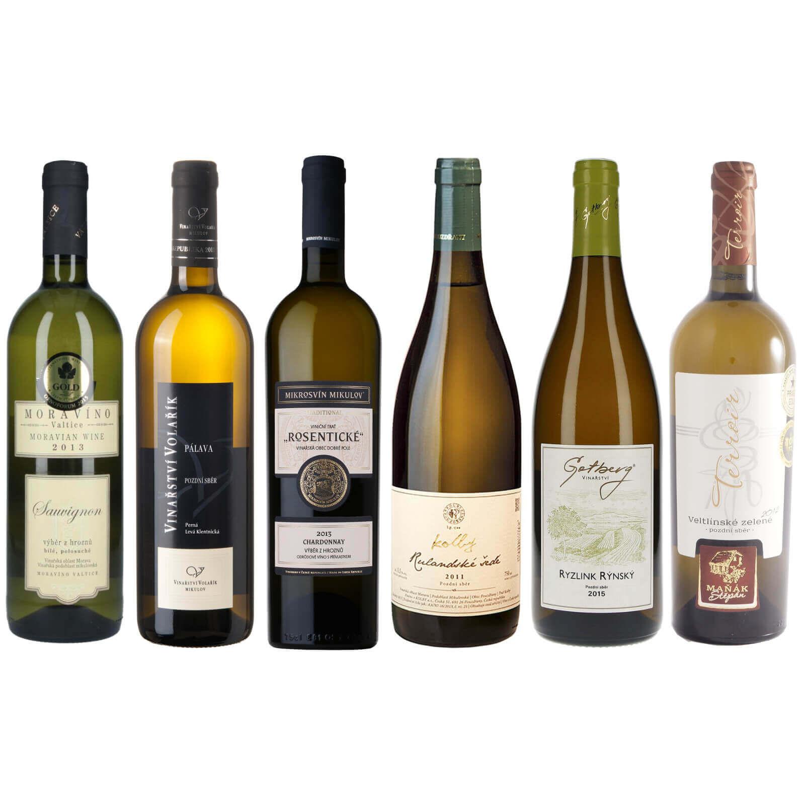 Kolekce suchých bílých vín