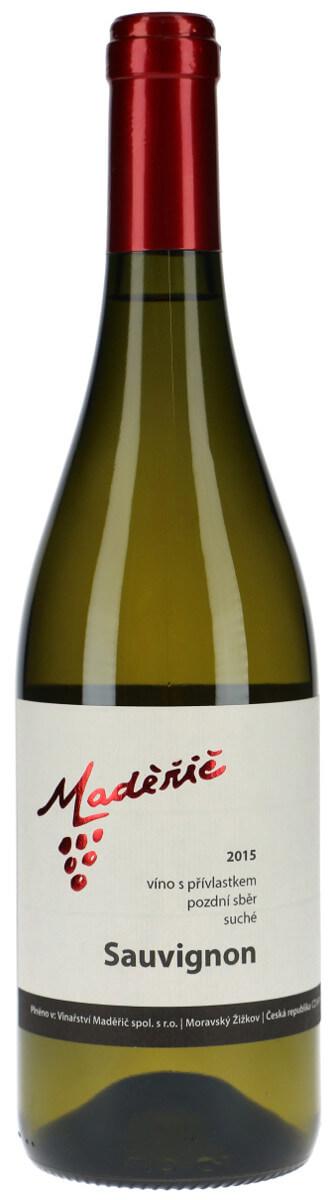 Vinařství Maděřič Sauvignon pozdní sběr 2015, 0,75 l