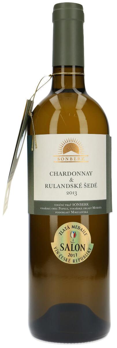 Vinařství Sonberk Chardonnay + Rulandské šedé pozdní sběr 2013, 0,75 l