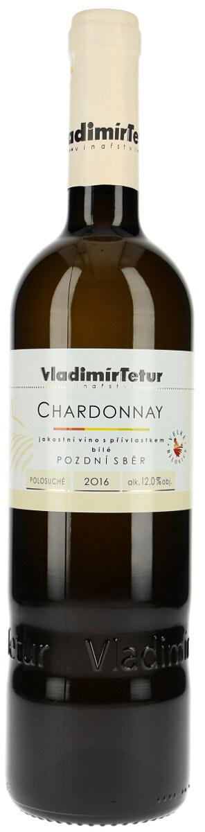 Vinařství Vladimír Tetur Chardonnay pozdní sběr 2016, 0,75 l