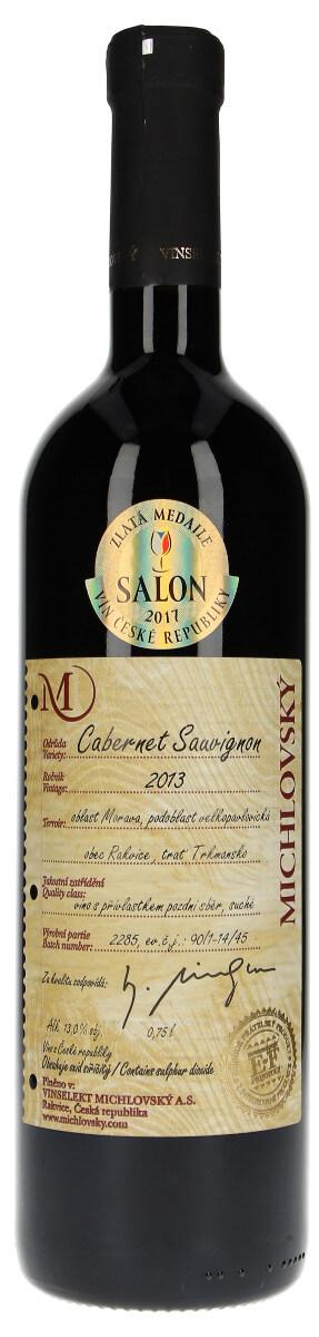 Vinařství Vinselekt Cabernet Sauvignon pozdní sběr 2013, 0,75 l