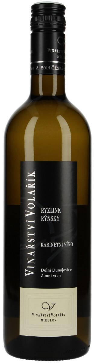 Vinařství Volařík Ryzlink rýnský kabinetní 2015, 0,75 l
