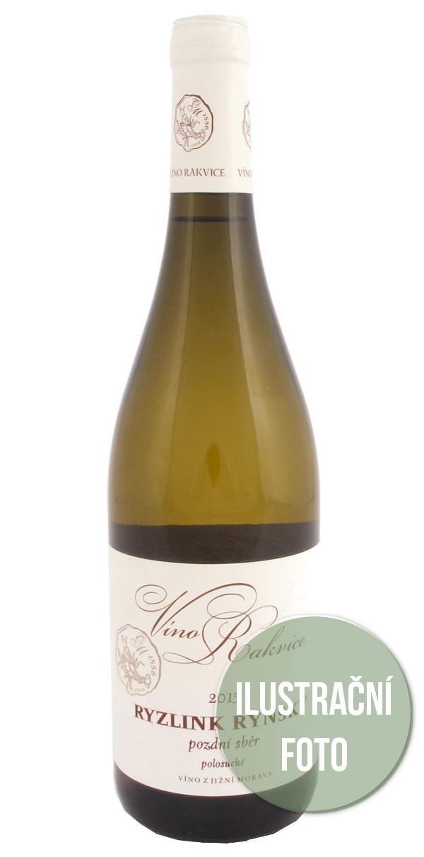 Víno Rakvice Rulandské šedé pozdní sběr 2015, 0,75 l