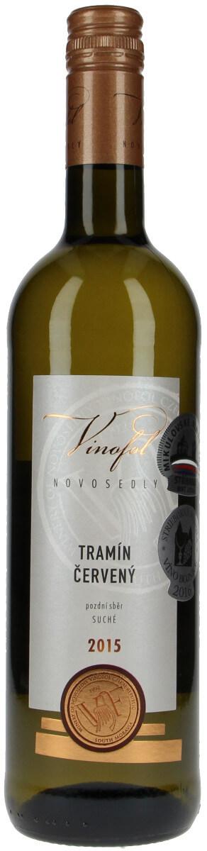 Vinařství Vinofol Tramín červený pozdní sběr 2015, 0,75 l