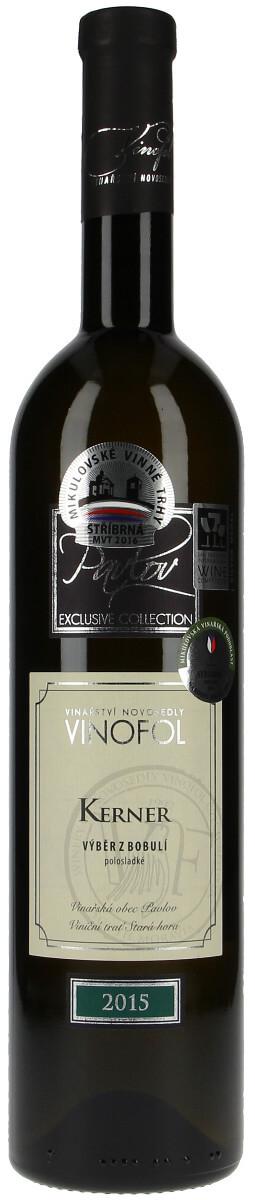 Vinařství Vinofol Kerner výběr z bobulí 2015, 0,75 l