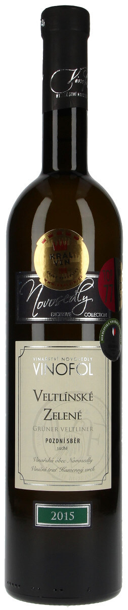 Vinařství Vinofol Veltlínské zelené pozdní sběr 2015, 0,75 l