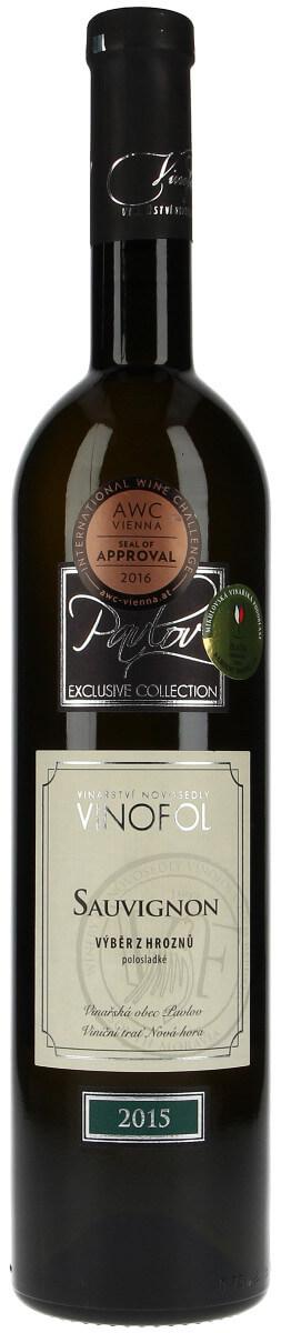 Vinařství Vinofol Sauvignon výběr z hroznů 2015, 0,75 l
