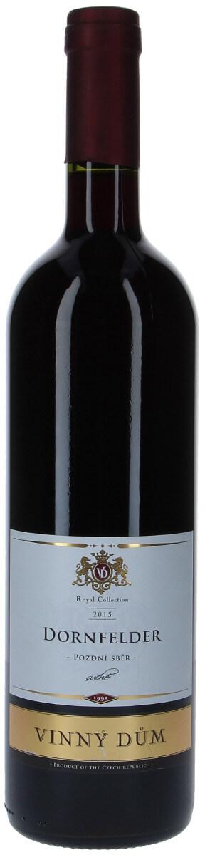 Vinný dům Dornfelder pozdní sběr 2015, 0,75 l