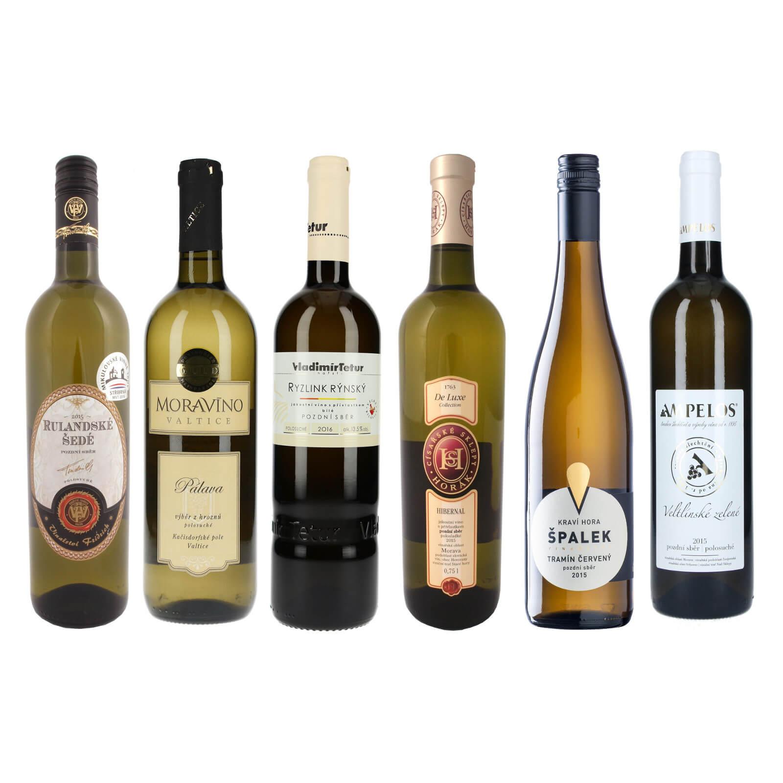 Kolekce sladších bílých vín - dobrý poměr cena/výkon