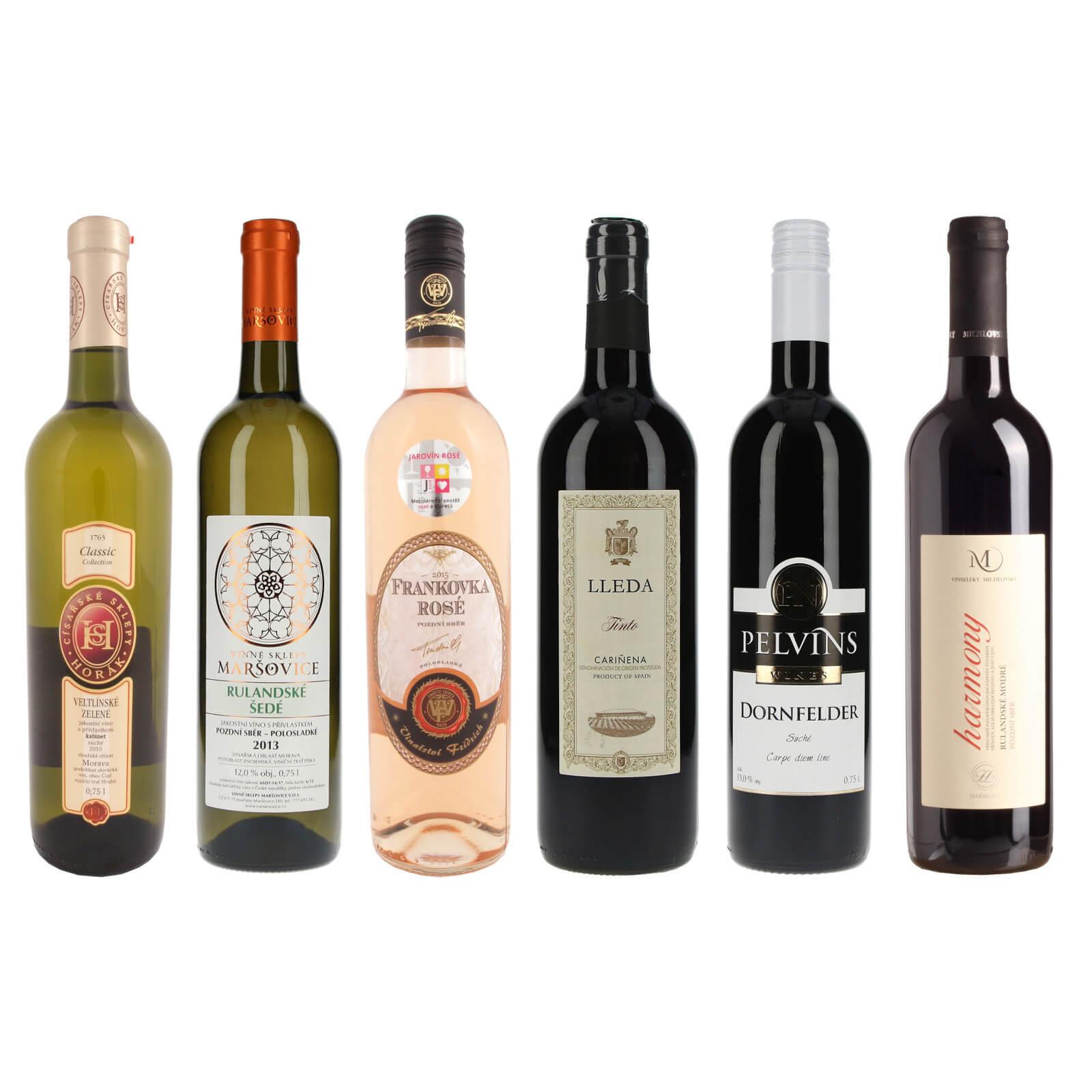 Kolekce vín za dobrou cenu