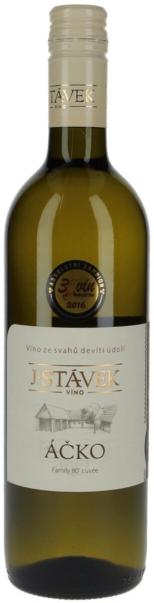 Víno J. Stávek Sauvignon+Rulandské bílé+tramín červený