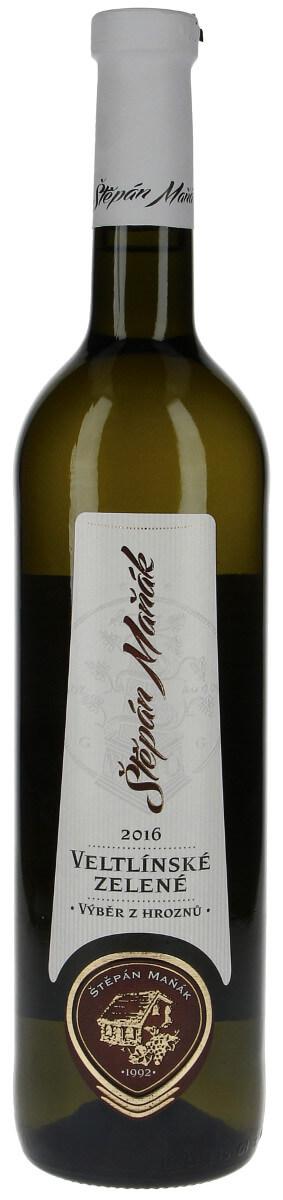 Vinařství Maňák Veltlínské zelené výběr z hroznů 2016, 0,75 l