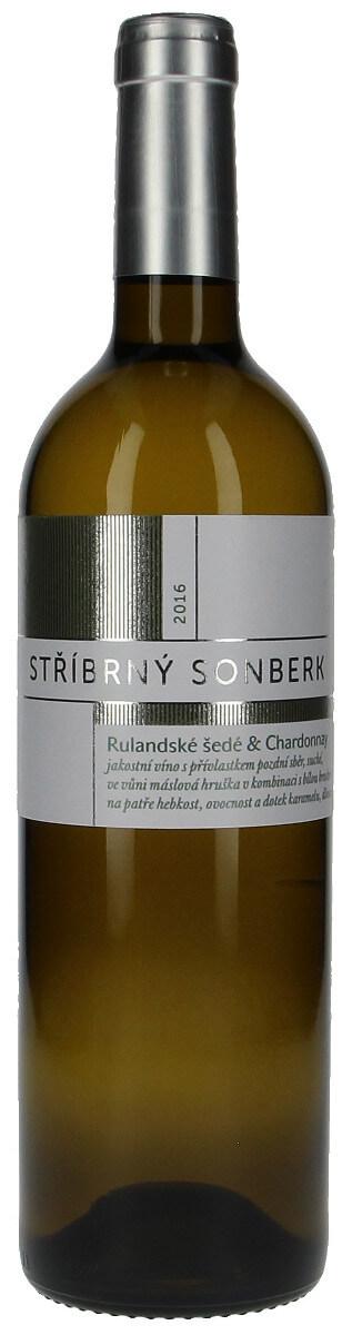 Vinařství Sonberk Rulandské šedé a Chardonnay Stříbrný Sonberk pozdní sběr 2016, 0,75l l