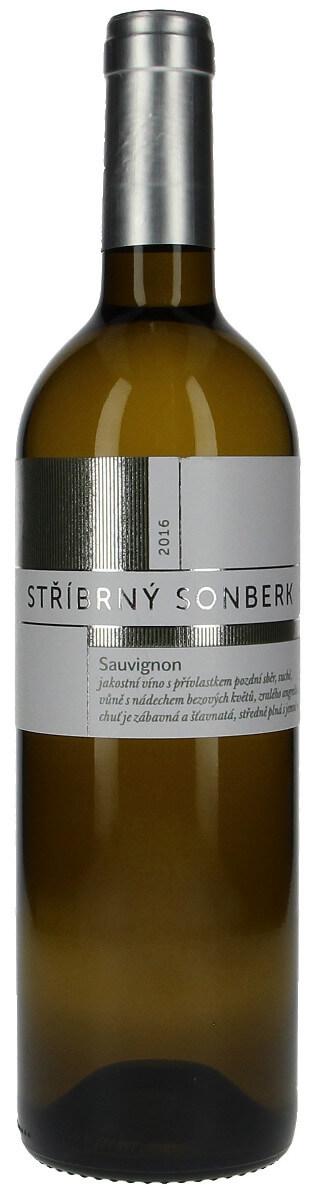 Vinařství Sonberk Sauvignon Stříbrný Sonberk pozdní sběr 2016, 0,75l l